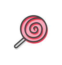 Lollipop traditional candy vector