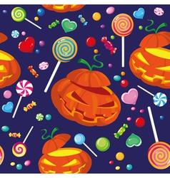 seamless halloween candy vector image