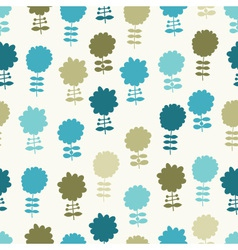 seamless light floral background vector image