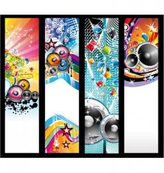 discotheque Dj flyers vector image vector image