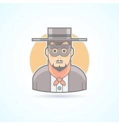 Maskman incognito anonymous mysterious icon vector image vector image