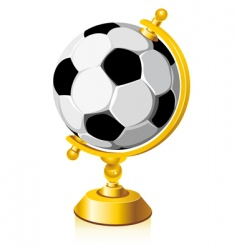 world soccer vector image vector image