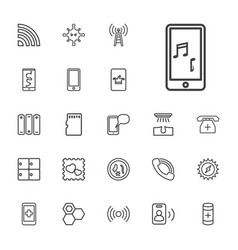 22 cell icons vector