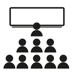 a crowd of people near a school board sign vector image