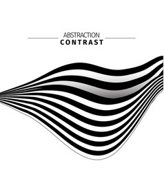 abstract black and white stripes color background vector image