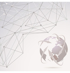 Abstract global communication background vector
