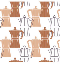 abstract repetitive background with coffee pots vector image