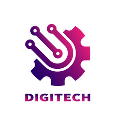 abstract sign digital technologies branding vector image