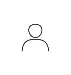 Account icon line style vector