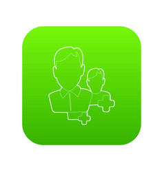 add users icon green vector image