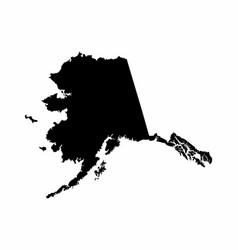 Alaska silhouette map vector