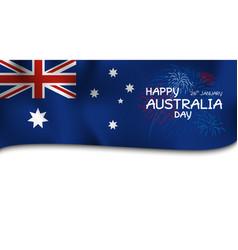 Australia day design flag and firework vector