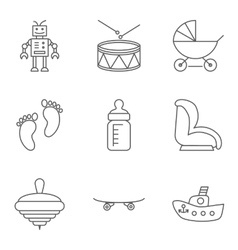 bathin line related icon set vector image