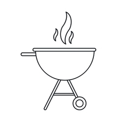 Bbq grill party american football outline vector