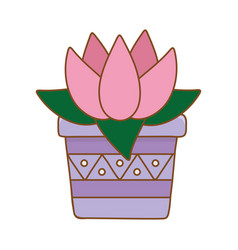 blossom in pot vector image