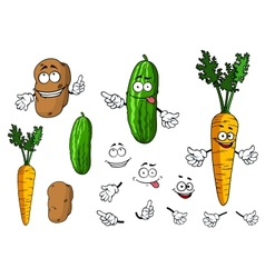 Cartoon vegetable characters vector