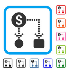 cashflow framed icon vector image