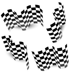 Checkered chequered racing flag isolated on white vector