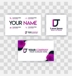 clean business card template concept purple vector image
