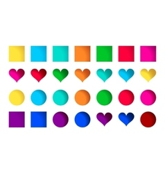 collection cute colorful icons vector image