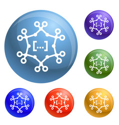 complex chemical formula icons set vector image