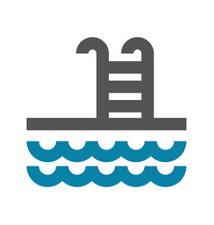 concept of swim pool icon vector image