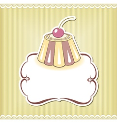 Cute cupcake border vector