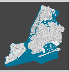 Detailed map new york city cityscape royalty vector