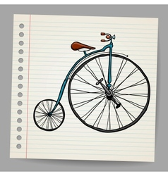 Doodle old bicycle vector