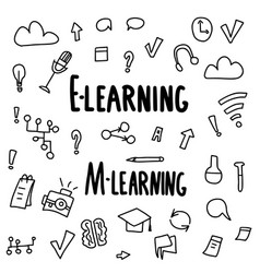 E-learning concept quote design set vector