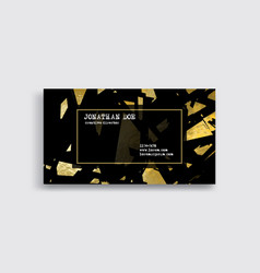 elegant luxury business card with gold pieces vector image