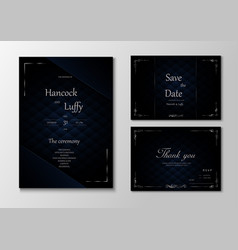 Elegant wedding invitation card template design vector