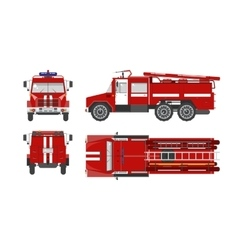 Fire engine car vector