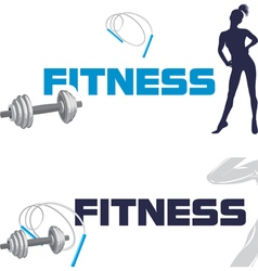 Fitness Banners for design vector image