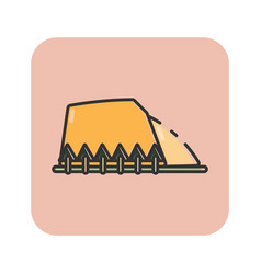 Flat color hill icon vector