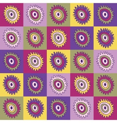 flower abstract patterns vector image