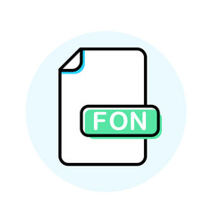 Fon file format extension color line icon vector