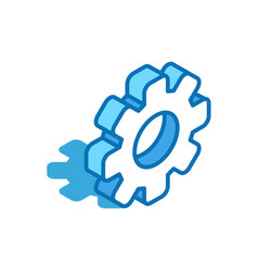 gear isometric icon engineering robot technology vector image