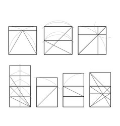 Golden ratio cover template vector