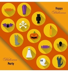 Halloween Background Flat vector image