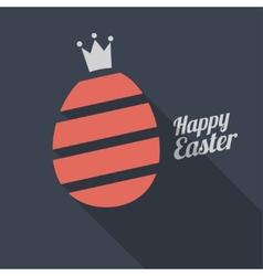 Happy Easter Egg logo vector image