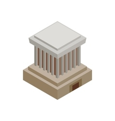 Ho Chi Minh Mausoleum icon isometric 3d style vector image