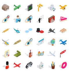 Intervention icons set isometric style vector