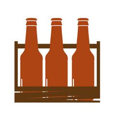Isolated beer bottles vector