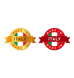 made in italy label stamp for product manufactured vector image