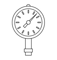 manometer or pressure gauge icon outline vector image