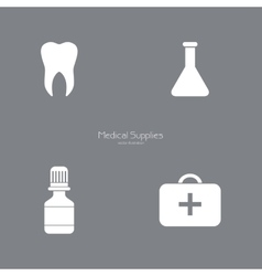 Medical Silhoutte Objects vector image