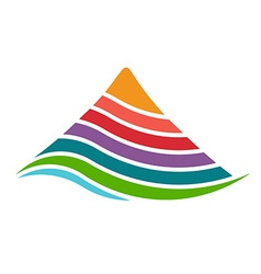 Mountain by layers logo vector
