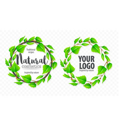 natural organic sign logo vector image