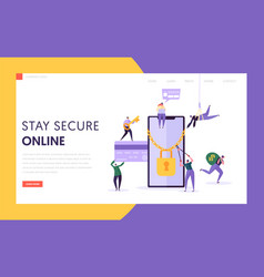 phone internet payment password security web page vector image